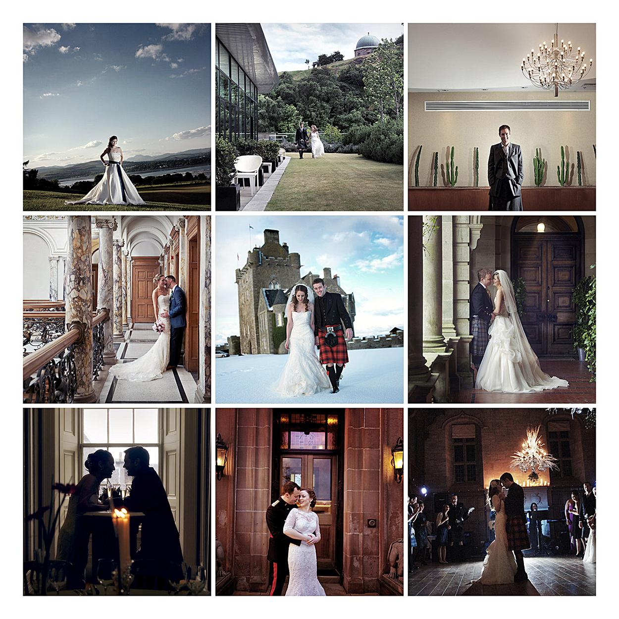Scottish wedding photography montage
